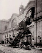 Accident at Montparnasse Station art print