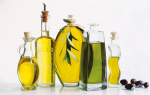 Bottles of olive oil art print