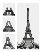 Contruction of the Eiffel Tower art print