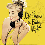 Life Begins on Friday Night, 1950 art print