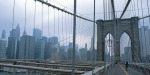 Skyline, Brooklyn Bridge art print