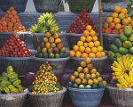 Stand de fruits, Est de Bali, Indon�sie art print