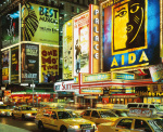 Traffic at Times Square, New York City, USA art print