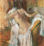 After the Bath, Woman Drying Herself art print