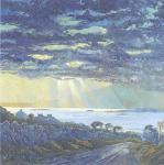 Connemara, Dramatic Sky at Dawn art print