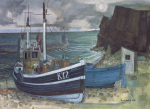 East coast fishing boats art print