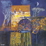 Mill and Moon,Orkney art print