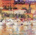 Yachts from Monaco art print