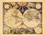 New World Map, 1676 art print