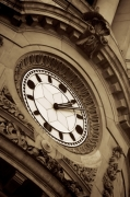 Classical Building And Clock Face giclee art print