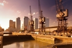 London Docklands And Canary Wharf giclee art print