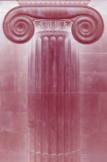 Red Classical Column giclee art print