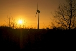 Wind Turbine at Sunset giclee art print