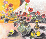 Anemones and Chinese Vase art print