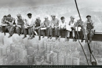 Men on girder art print