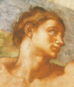 Portrait: Sistine Chapel-Adam art print