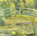 Water Lily Pond and Bridge art print