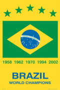 Brazil - World Champions art print