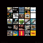 The Beatles - Albums art print