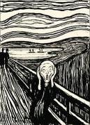 The Scream (Silkscreen print) art print