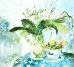 Wild Garlic and King Cups art print