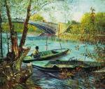 A Fisherman in his Boat art print