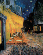 Cafe At Night art print