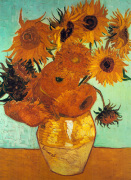 Sunflowers on Blue art print