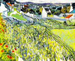 Vineyards at Auvers, 1890 art print