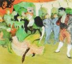 Il ballo al Moulin Rouge, 1890 art print