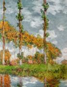 Poplars at Giverny art print