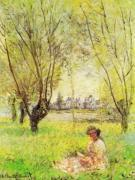Woman under the willow art print