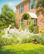 Betty in the Garden art print