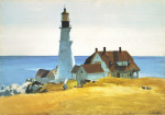Lighthouse and Buildings, Portland Head, Cape Elizabeth art print