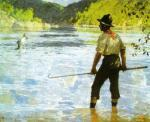 Salmon Fishing, 1927 art print