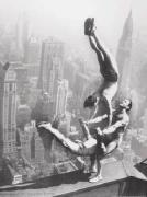 Acrobats on the Empire State Building art print