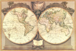 New Map Of The World, 1794 art print