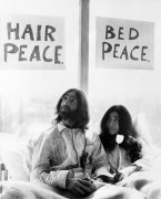 John Lennon and his wife Yoko Ono giclee art print