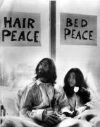 John Lennon in bed with Yoko Ono giclee art print