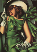 Portrait of a Young Girl in a Green Dress, 1930 art print