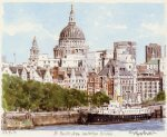 St. Paul's from the Thames art print
