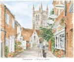 Farnham - Upper Church Lane art print