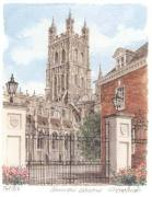Gloucester Cathedral - portrait art print