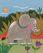 Baby Elephant art print