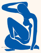 Blue Nude I art print