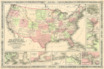 New Military Map of the United States 1861 art print