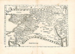 Ptolemaic Map of the Middle East art print