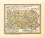 A New Map of Pennsylvania art print