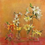 Lilies In Vases I art print