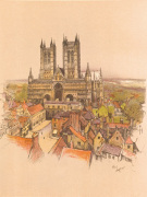 Lincoln Cathedral art print